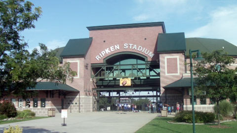 Cal Ripken Stadium is the centerpiece of a sprawling baseball complex.