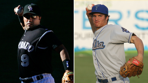 Vinny Castilla (left) spent nine years at third base in Colorado, Nolan Arenado's next destintation.
