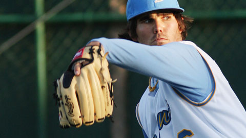 Cody Buckel has been the Carolina League's top pitcher three times in six weeks.