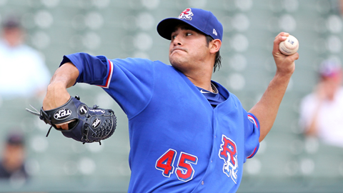 Martin Perez has pitched seven innings in three of his 14 starts.